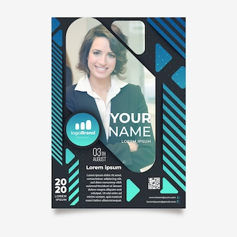 Abstract flyer template for business