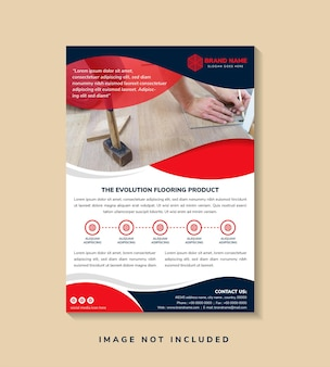Abstract flyer template design.