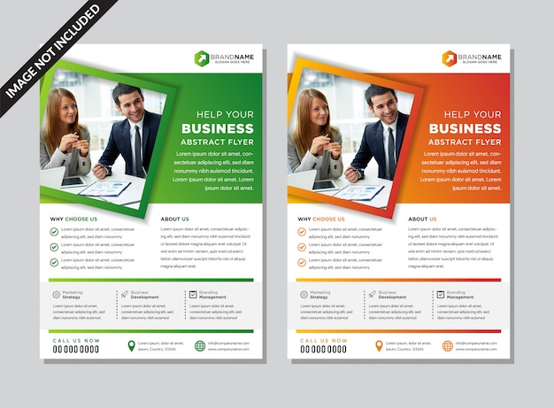 Abstract flyer template layout design.