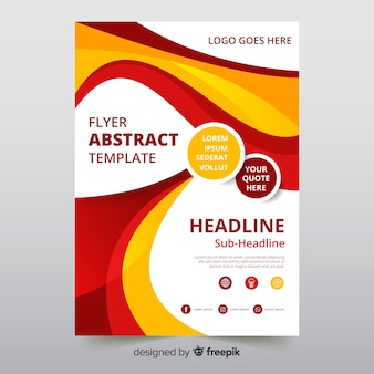 Abstract flyer template with modern style