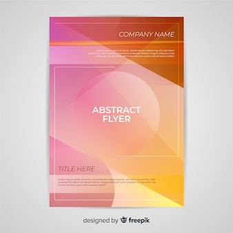 Abstract flyer template