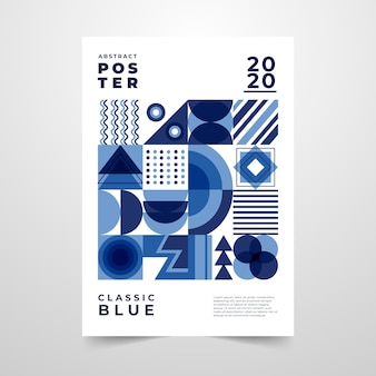 Abstract flyer with geometrical shapes