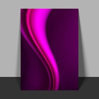 光沢のある波のデザインのフライヤーを抽象化。