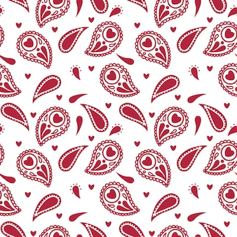 Abstract folk seamless pattern with decorative elements
