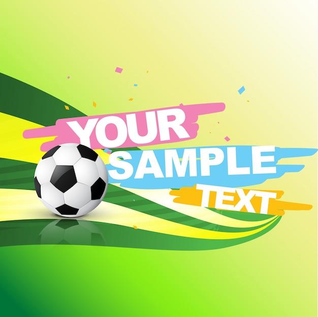 Sfondo di calcio astratto con spazio per il testo