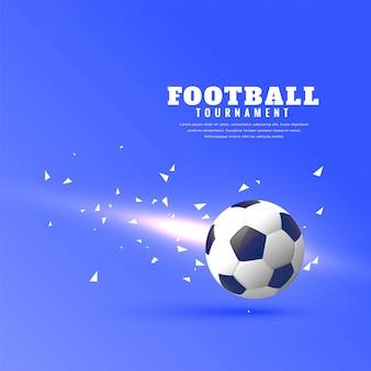 Абстрактный футбол синий фон