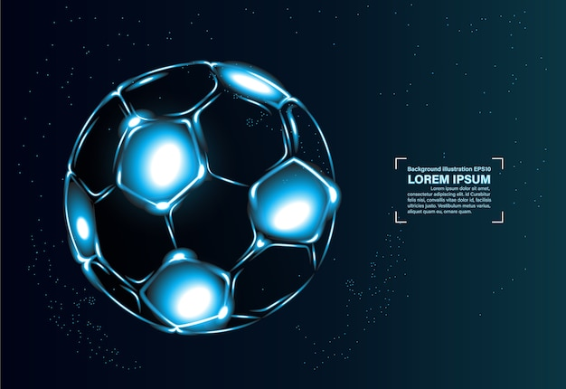 Abstract football in space background
