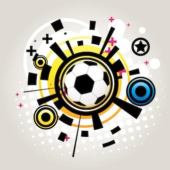Абстрактный футбольный вектор