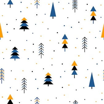 Abstract forest seamless pattern background. childish simple hand drawn cover for design card, wallpaper, album, scrapbook, holiday wrapping paper, textile fabric, bag print, t shirt, baby nappy etc.