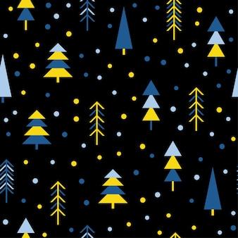 추상 숲 원활한 패턴 배경입니다. 디자인 카드, 벽지, 앨범, 스크랩북, 휴일 포장지, 섬유 직물, 가방 프린트, 티셔츠, 아기 기저귀 등을 위한 유치한 단순한 손으로 그린 표지