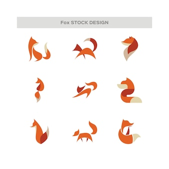 Abstract fox logo