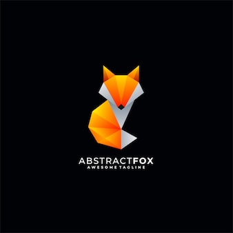 Abstract fox media illustration vector logo.