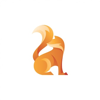 Abstract fox tail logo