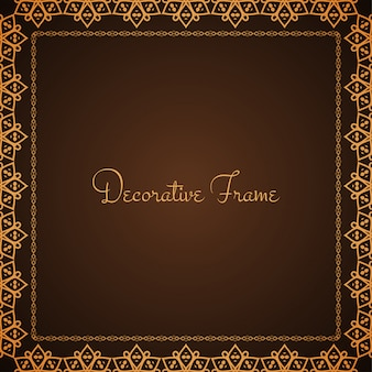Abstract frame design brown vector background