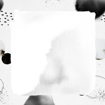 Abstract frame ink brush patterned background