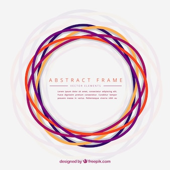 Abstract frame made with hand drawn circles