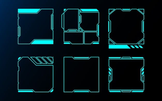 Abstract frame set technology future interface hud .