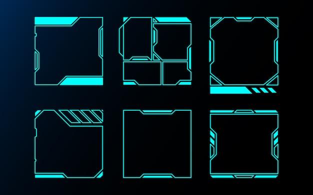 Абстрактный набор кадров технологии будущего интерфейса hud.