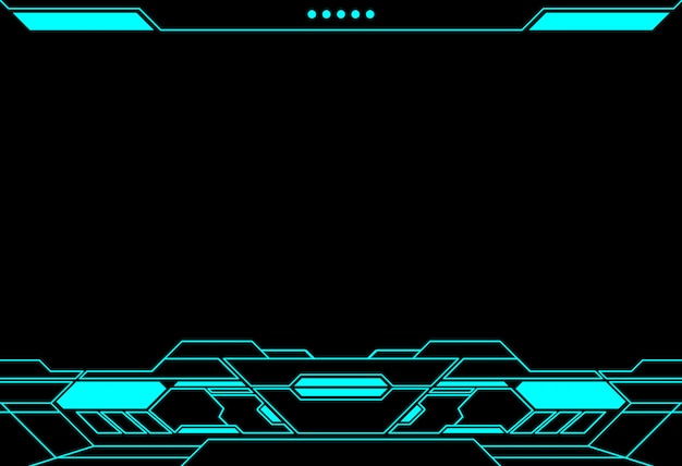 Abstract frame technology futuristic  interface hud  design.