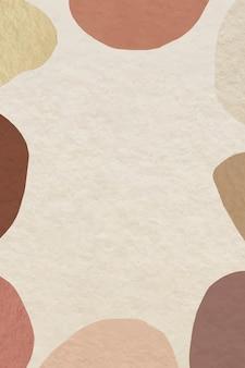 アース トーン パターンの抽象的なフレーム 無料ベクター