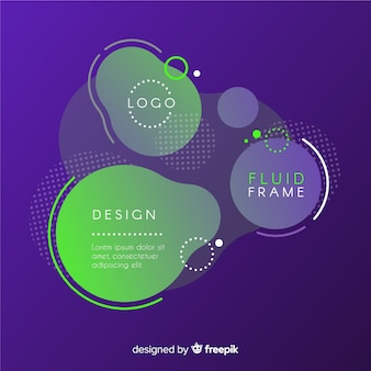 Abstract frame with fluid style