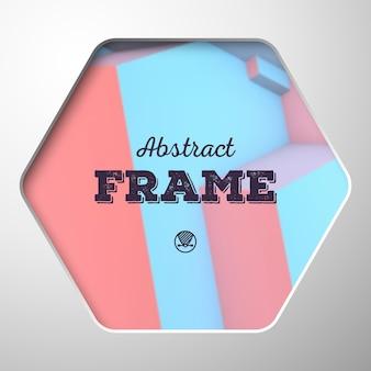 背景に重なり合う立方体と抽象的なフレーム