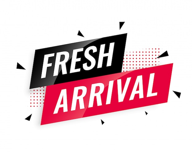 Abstract fresh arrival banner template