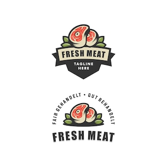 Abstract fresh meat illustration vector design template