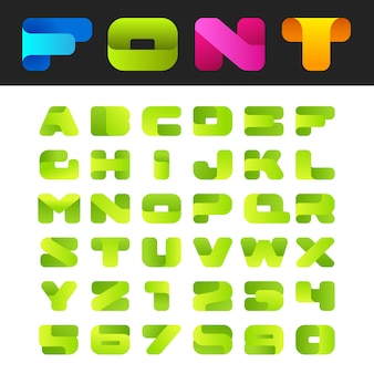 Abstract friendly alphabet font isolated on white