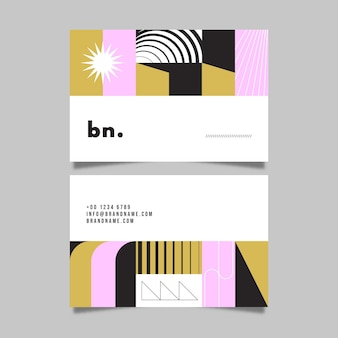 Абстрактный шаблон передней и задней визитной карточки