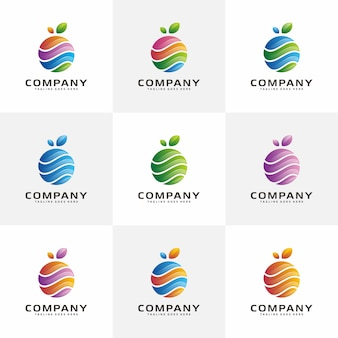 Abstract fruit logo design