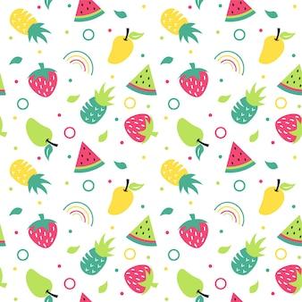 추상 과일 일러스트 패턴