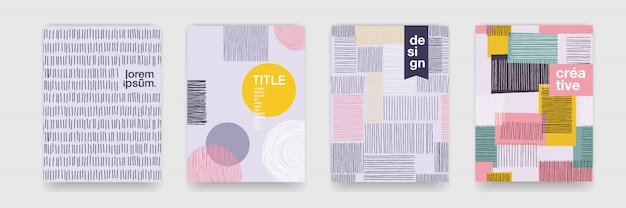 낙서 기하학적 배경에 대 한 추상 재미 색상 패턴 만화 텍스처. 안내 책자 표지 서식 파일 디자인에 대 한 추세 모양