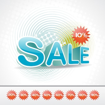 Abstract funky sales design