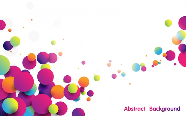 Abstract funny colorful striped balls on white background