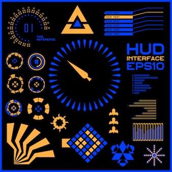 Абстрактное будущее, концептуальный вектор футуристический синий виртуальный графический сенсорный пользовательский интерфейс hud. для интернета, сайта, мобильных приложений, изолированных на черном фоне, техно, онлайн-дизайн, бизнес, графический интерфейс, пользовательский интерфейс.