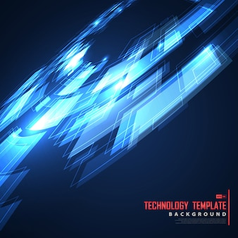 Abstract future design of blue template technology cover design.