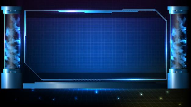 Абстрактный футуристический фон технологии научной фантастики голограммы кадр шаблона
