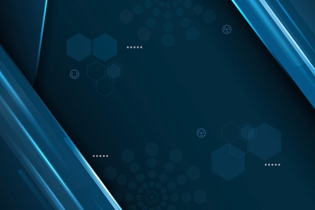 Abstract futuristic background with hexagons and circles