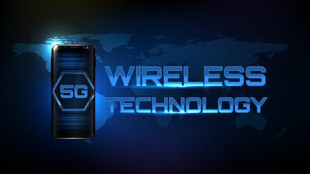 ワイヤレス技術と抽象的な未来的な背景