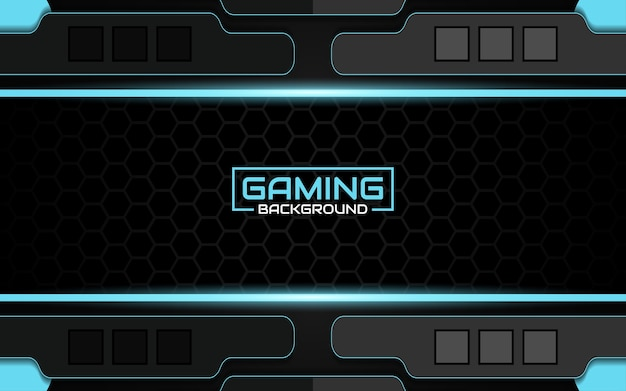 抽象的な未来的な黒と青のゲームの背景
