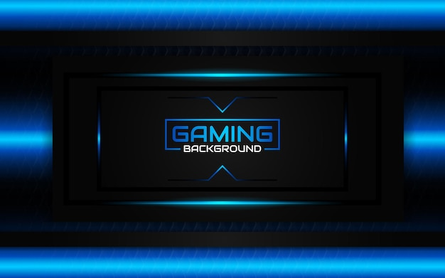 추상 미래의 검은 색과 파란색 게임 배경