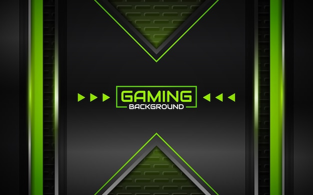 抽象的な未来的な黒と緑のゲームの背景
