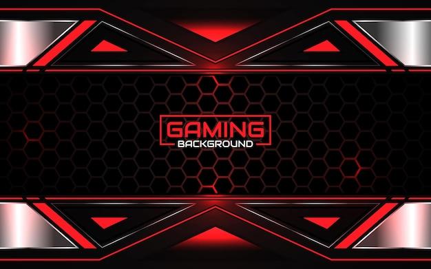 추상 미래의 검은 색과 빨간색 게임 배경