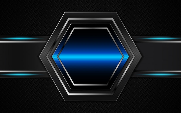 Abstract futuristic black and blue background