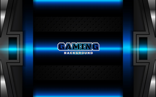 Abstract futuristic black and light blue gaming background