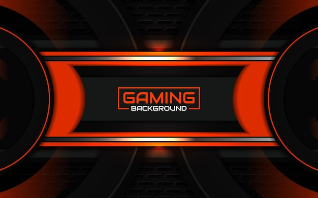 Abstract futuristic black and light orange gaming background