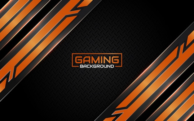 Abstract futuristic black and orange gaming background