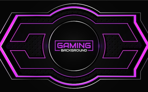 Abstract futuristic black and purple gaming background