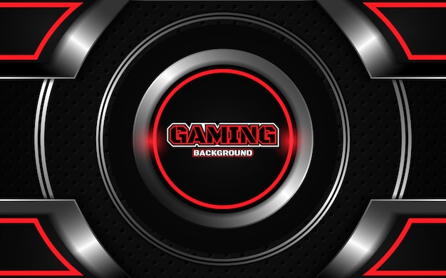 Abstract futuristic black and red gaming background